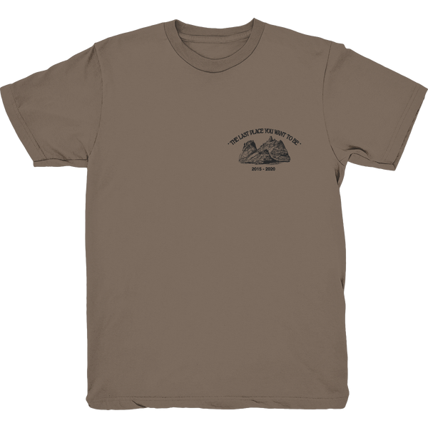 CAN'T LEAVE BROWN T SHIRT