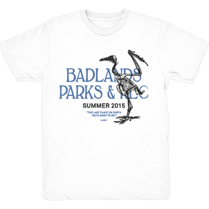 PARKS AND REC WHITE T SHIRT