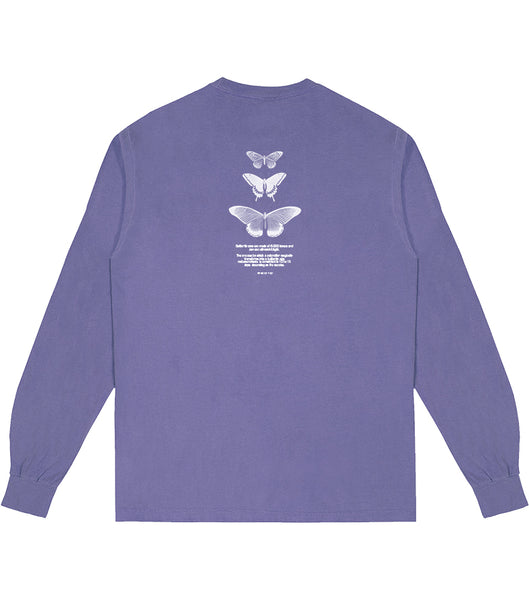 Lavender Butterfly L/S T-Shirt