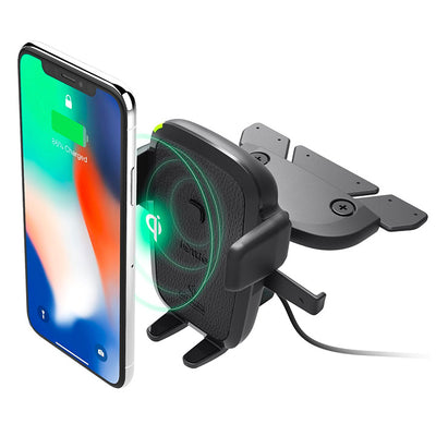 iOttie Easy One Touch Wireless Fast Charging CD Slot Mount Holder for Mobile Devices