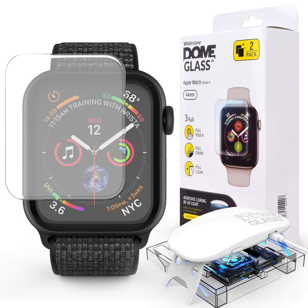 sneakers for cheap 808f3 170ff Whitestone Dome Glass Tempered Glass Screen Protector for Apple Watch  Series 4
