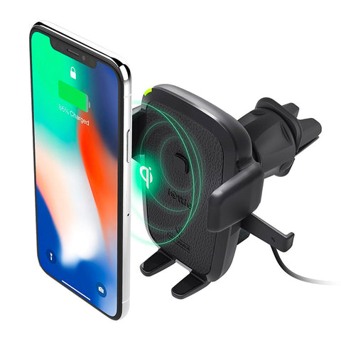 iOttie Easy One Touch Wireless Fast Charging Air Vent Mount Holder for Mobile Devices