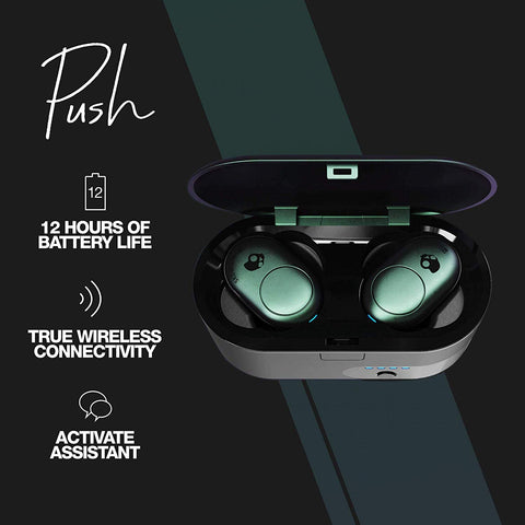 Skullcandy Push Bluetooth True Wireless Earbuds with Active Assistant