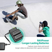 Shop and buy RAVPower RP-BC006 Camera Battery Charger Set for Sony F550 2900mAh overcharge, over voltage, short circuit features| Casefactorie® online with great deals and sales prices with fast and safe shipping. Casefactorie is the largest Singapore official authorised retailer for the largest collection of mobile premium accessories.