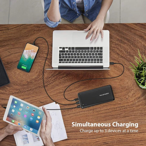 RAVPower RP-PB058 26800mAh 30W Portable External Battery Power Bank (Power Delivery)