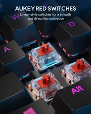 Aukey KM-G12 Gaming Mechanical Keyboard with LED Backlit