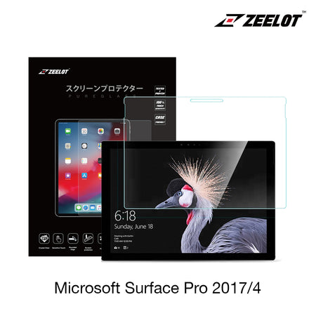 Zeelot PureGlass 2.5D Tempered Glass Screen Protector for Microsoft Surface Pro 4 2017