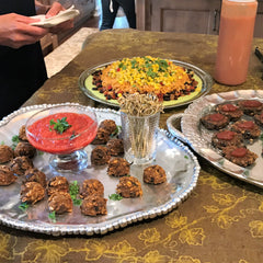 "Fred & RIcky's ""MeatBalls"" , Black Bean Burger Bites and Fiesta Dip."