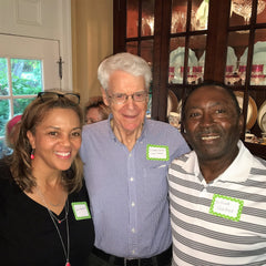 Dr. Caldwell B. Esselstyn Jr with party guests