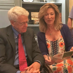 Fred showing Dr. Caldwell Esselstyn how he inspired Fred and Rickys menu