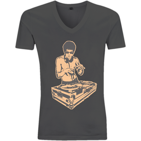 Bruce Lee Gold - EP03V V-Neck Men's T-Shirt - Movie TV Show Merch