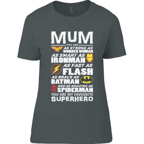 Superhero Mum Light - Anvil Ladies T-Shirt - Movie TV Show Merch