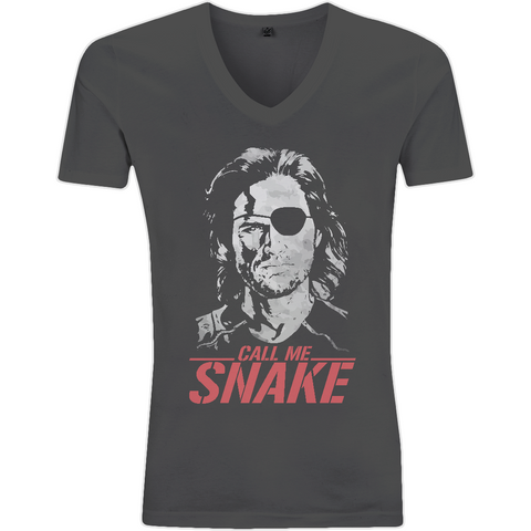Escape From New York - Call Me Snake - EP03V V-Neck Men's T-Shirt - Movie TV Show Merch