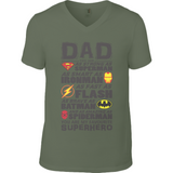 Superhero Dad - Anvil V Neck T-Shirt - Movie TV Show Merch
