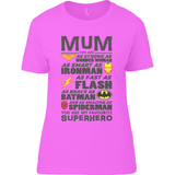 Superhero Mum - Anvil Ladies T-Shirt - Movie TV Show Merch