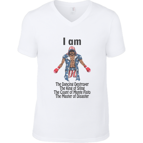 Rocky - Apollo Creed King of Sting Anvil Fashion V Neck T-Shirt - Movie TV Show Merch