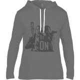 The Walking Dead Rick vs Negan - Anvil Fashion Basic Long Sleeve Hooded T-Shirt - Movie TV Show Merch