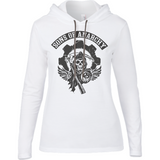 Sons of Anarchy bl - Anvil Ladies Long Sleeve Hooded T-Shirt - Movie TV Show Merch