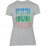 Stranger Things Upside Down - Anvil Ladies Fitted T-Shirt - Movie TV Show Merch