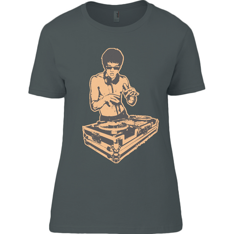 Bruce Lee Gold - Anvil Ladies T-Shirt - Movie TV Show Merch