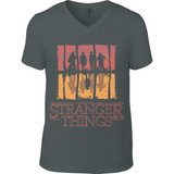 Stranger Things Upside Down - RO Anvil V Neck T-Shirt - Movie TV Show Merch