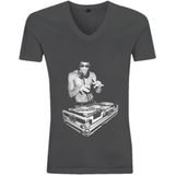 Bruce Lee DJ - EP03V V-Neck Men's T-Shirt - Movie TV Show Merch