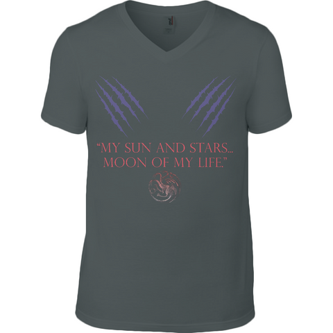 Game of Thrones - My Sun and Stars - Anvil Fashion V Neck T-Shirt - Movie TV Show Merch