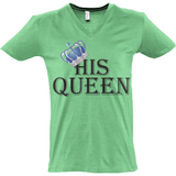 His Queen Bl - Sol's Master V-Neck T-Shirt - Movie TV Show Merch