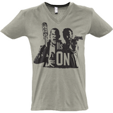 The Walking Dead Rick vs Negan - Sol's Master V-Neck T-Shirt - Movie TV Show Merch