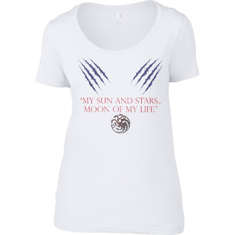 Game of Thrones - My Sun and Stars - Anvil Ladies Sheer Scoop Neck T-Shirt - Movie TV Show Merch