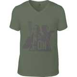 The Walking Dead Rick vs Negan - Anvil Fashion Basic V Neck T-Shirt - Movie TV Show Merch