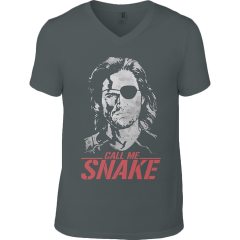 Escape From New York - Call Me Snake - Anvil Fashion V Neck T-Shirt - Movie TV Show Merch