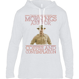 Stranger Things - Chief Hopper Monday Mornings Anvil Long Sleeve Hooded T-Shirt - Movie TV Show Merch