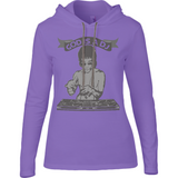 Bruce Lee God is a DJ - Ladies Long Sleeve Hooded T-Shirt - Movie TV Show Merch