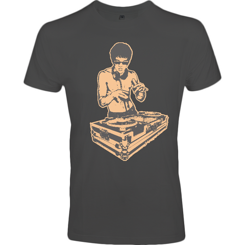Bruce Lee Gold - Sol's Imperial FIT T-Shirt - Movie TV Show Merch