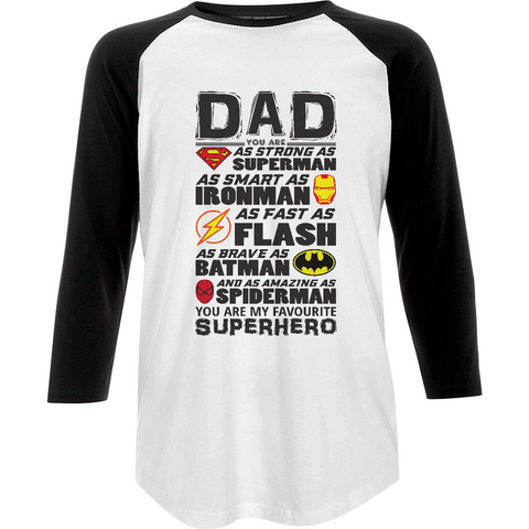 Superhero Dad - N22 Unisex Baseball T-shirt - Movie TV Show Merch