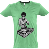Bruce Lee DJ - Sol's Master V-Neck T-Shirt - Movie TV Show Merch
