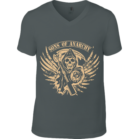 Sons of Anarchy - Anvil V Neck T-Shirt - Movie TV Show Merch