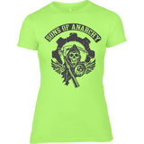 Sons of Anarchy bl - Anvil Ladies Fitted T-Shirt - Movie TV Show Merch