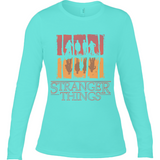Stranger Things Upside Down - RO Anvil Ladies Long Sleeve Fitted T-Shirt - Movie TV Show Merch