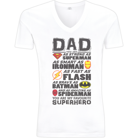 Superhero Dad - EP03V V-Neck Men's T-Shirt - Movie TV Show Merch