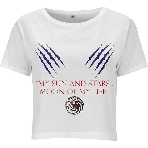 Game of Thrones - My Sun and Stars - N28 Women's Cropped Jersey T-shirt - Movie TV Show Merch