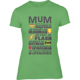 Superhero Mum - Anvil Ladies Fitted T-Shirt - Movie TV Show Merch