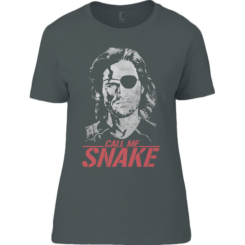 Escape From New York - Call Me Snake - Anvil Ladies T-Shirt - Movie TV Show Merch