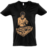 Bruce Lee Gold - Sol's Master V-Neck T-Shirt - Movie TV Show Merch