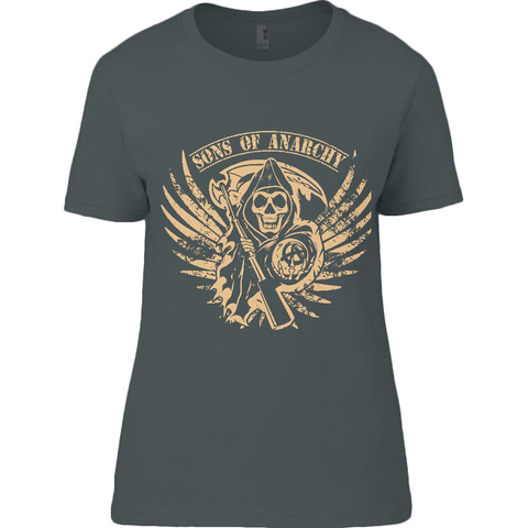 Sons of Anarchy - Anvil Ladies T-Shirt - Movie TV Show Merch