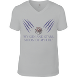 Game of Thrones - Moon of my Life - Anvil Fashion V Neck T-Shirt - Movie TV Show Merch