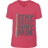 The Walking Dead Miny Moe Lucille - Anvil Fashion V Neck T-Shirt - Movie TV Show Merch