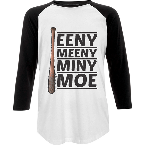The Walking Dead Miny Moe Lucille - Baseball T-shirt - Movie TV Show Merch
