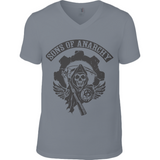 Sons of Anarchy bl - Anvil Fashion V Neck T-Shirt - Movie TV Show Merch